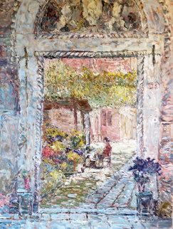 La Fioraia II 1988 52x40 Original Painting - Marco Sassone
