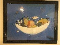Frutero De Porcelana 1996 46x54 Super Huge Limited Edition Print by Regina Saura - 2