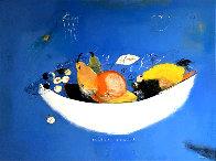 Frutero De Porcelana 1996 46x54 Super Huge Limited Edition Print by Regina Saura - 0