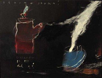 Calor 1995 32x24 Original Painting by Regina Saura