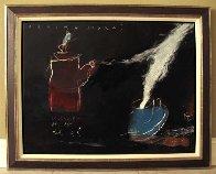 Calor 1995 32x24 Original Painting by Regina Saura - 1