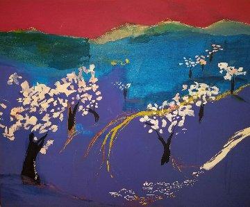 Cel Roig Mixed Media on Canvas 2006 39x48 Original Painting - Regina Saura