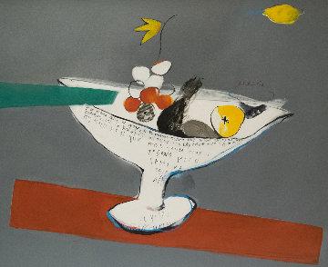 Frutero Grafico 1997 53x45 Original Painting - Regina Saura