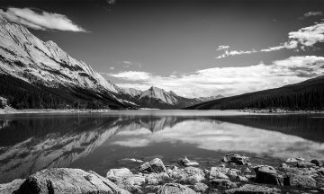 Be Still, Banff, Canada Panorama by Rick Scalf
