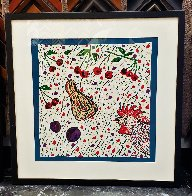 Cock and Cherries 1990 Limited Edition Print by Italo Scanga - 2