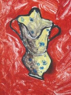 Calabrian Jug 1990 52x36 Original Painting - Italo Scanga