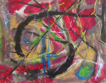 Abstract Composition 1950 25x29 Original Painting - Rolph Scarlett