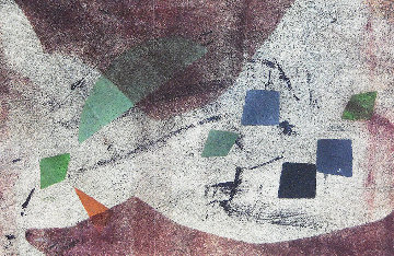 Abstract Composition Monoprint Unique 1950 Works on Paper (not prints) - Rolph Scarlett