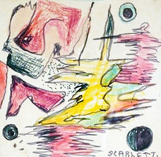 Untitled Watercolor  8x9 Works on Paper (not prints) - Rolph Scarlett