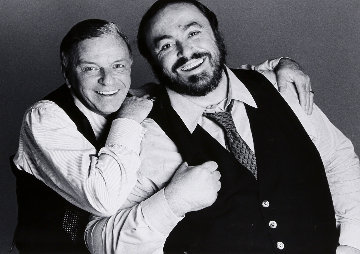 Frank Sinatra And Luciano Pavarotti 1983 Photography - Francesco Scavullo