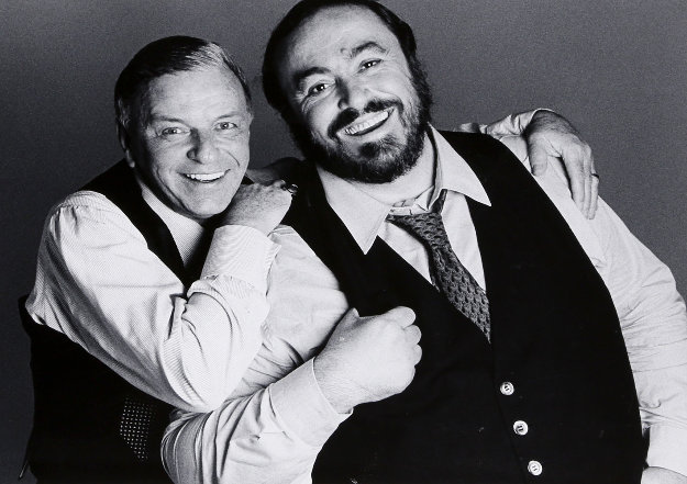 Frank Sinatra And Luciano Pavarotti 1983 Photography by Francesco Scavullo