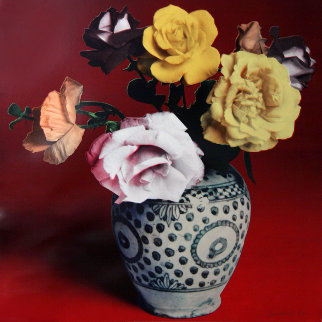 Flower Arrangement (Red) 1987 Limited Edition Print - Francesco Scavullo