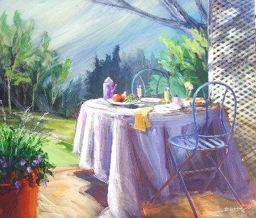 Breakfast With Monet 2014 36x42 Super Huge Original Painting - Tim Schaible