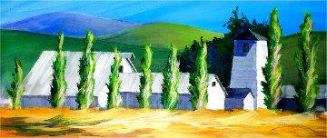 Lakeville Farm 2020 19x44 Original Painting - Tim Schaible