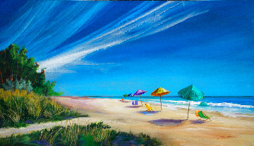 Beach Walk 2018 38x66 Super Huge Original Painting - Tim Schaible