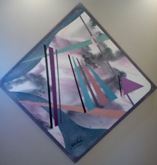 Untitled Abstract 1987 50x50 Original Painting - Roy Schallenberg