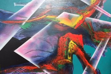 Untitled Painting 1995 60x80 Huge Original Painting - Roy Schallenberg