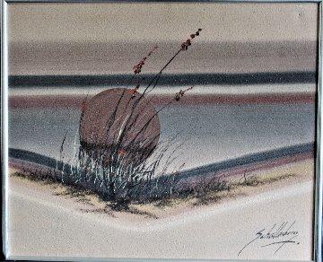 Sunset on the Beach 1970 20x24 Original Painting - Roy Schallenberg