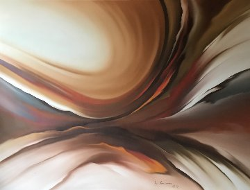 Untitled Painting 1979 45x60 Huge Original Painting - Roy Schallenberg
