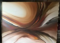 Untitled Painting 1979 45x60 Super Huge Original Painting by Roy Schallenberg - 1