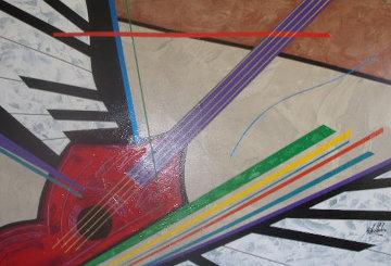 Instrumental Series 2005 40x60 Huge Original Painting - Roy Schallenberg