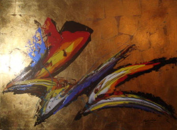 Untitled Painting 46x64 Super Huge Original Painting - Roy Schallenberg