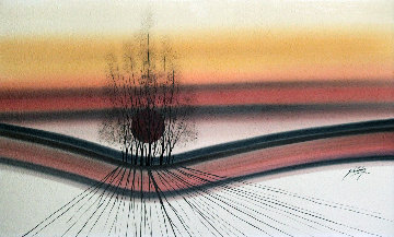 Untitled Painting 1983 30x50 Huge Original Painting - Roy Schallenberg