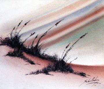 Sand Dunes 1970 24x48 Original Painting - Roy Schallenberg