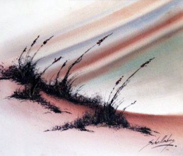 Sand Dunes 1970 24x48 Super Huge Original Painting - Roy Schallenberg