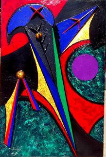 11th Hour Eclipse 1993 72x48  Huge Original Painting - Roy Schallenberg