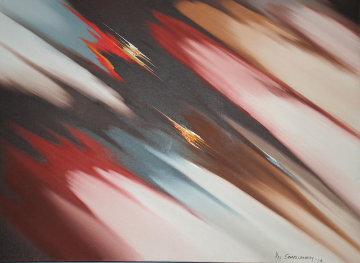 Untitled Painting 1978 31x43 Original Painting - Roy Schallenberg