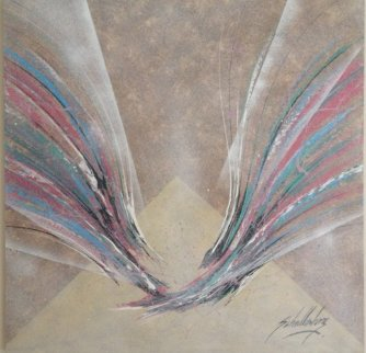 Untitled Abstract 1987 50x50 Original Painting by Roy Schallenberg