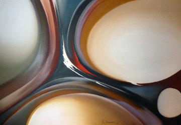 Large Abstract 1979  37x60 Original Painting - Roy Schallenberg