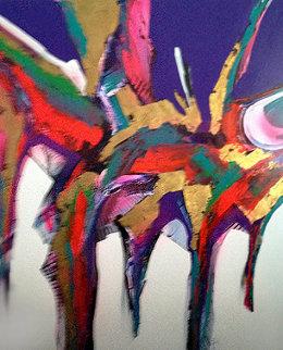 Untitled Painting 1999 80x60 Super Huge  Original Painting - Roy Schallenberg