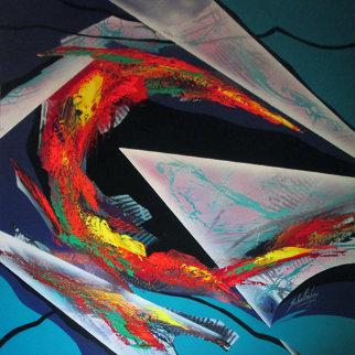 Untitled Abstract 1995 70x70 Super Huge  Original Painting - Roy Schallenberg