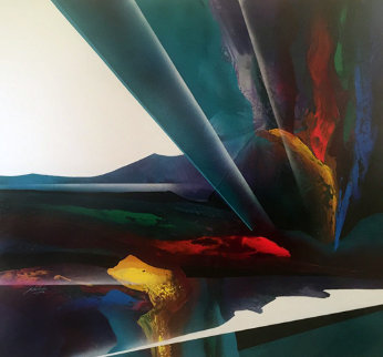 Celestial Visions Series 1995 80x80 Huge Original Painting - Roy Schallenberg