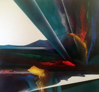 Celestial Visions Series 1995 80x80 Super Huge Original Painting - Roy Schallenberg