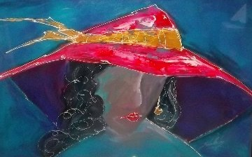 Lady With Hat 1996 40x60 Original Painting by Roy Schallenberg