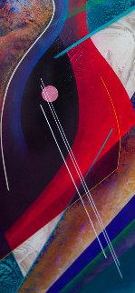 Untitled Painting 33x71 Original Painting - Roy Schallenberg
