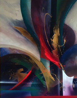 Untitled Painting 1998 68x88 Original Painting - Roy Schallenberg