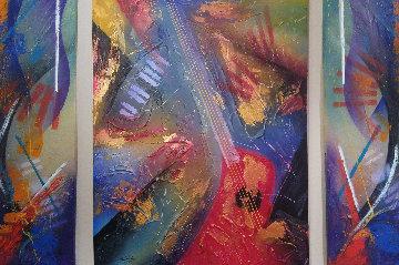 Texture of Music 2008 60x48 Super Huge Original Painting - Roy Schallenberg