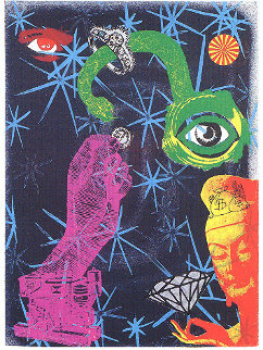Dark, Set of 7 Lithographs 1989 Limited Edition Print by Kenny Scharf