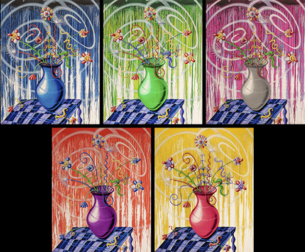 Flores X 5 2020 Suite of 5  Limited Edition Print by Kenny Scharf
