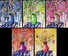 Flores X 5 2020 Suite of 5  Limited Edition Print by Kenny Scharf - 0