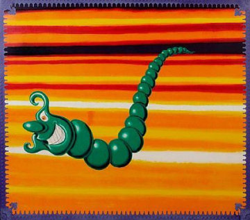 Jade Pea Pod 1989 Limited Edition Print by Kenny Scharf