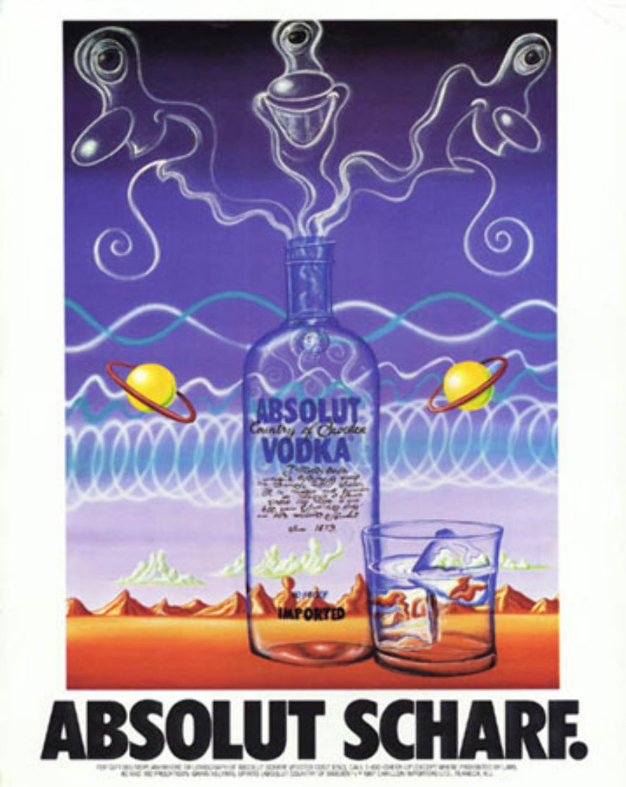 Absolut Poster Huge  45x33 Limited Edition Print by Kenny Scharf