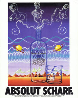 Absolut Poster Huge  45x33 Limited Edition Print - Kenny Scharf