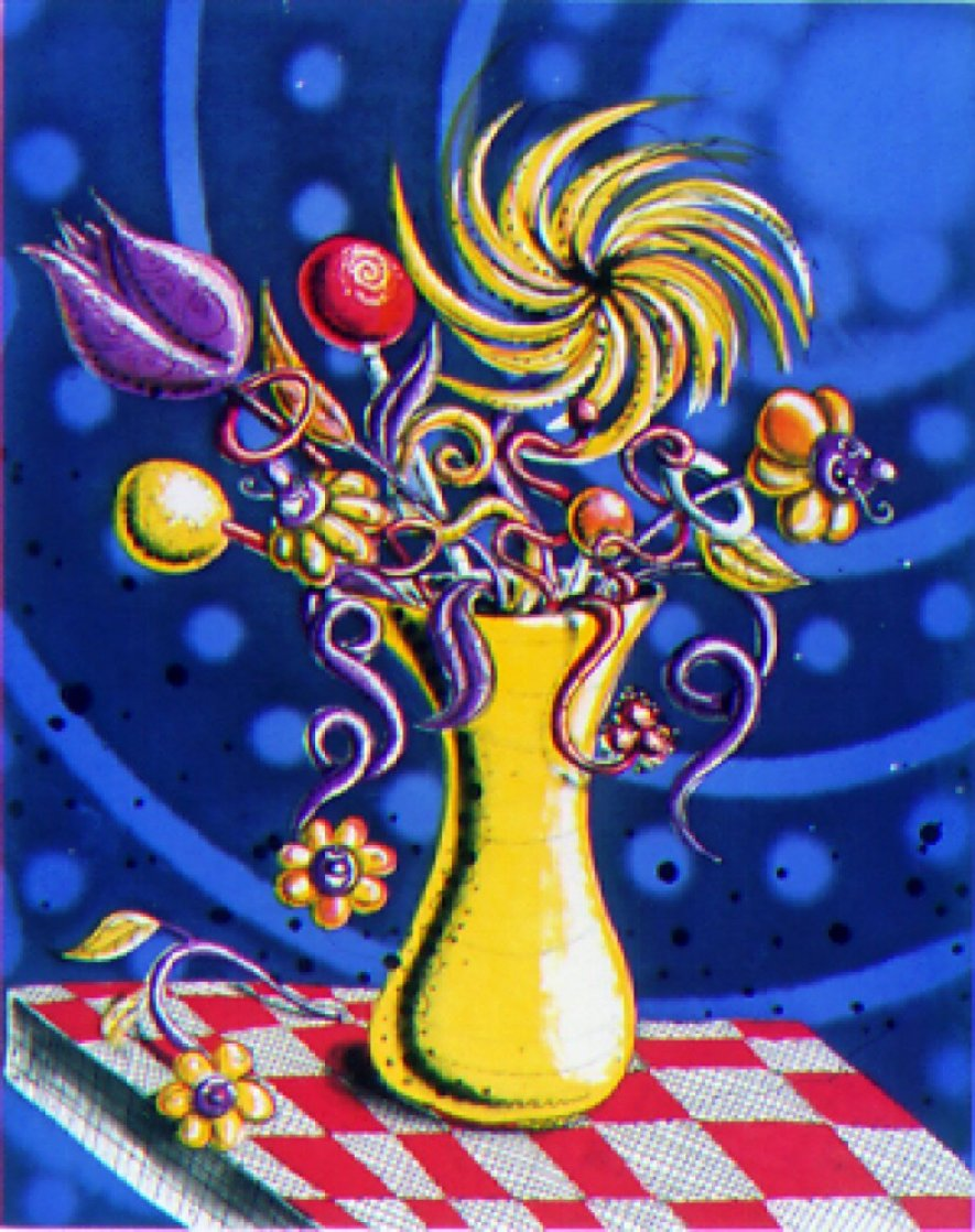 Towers of Flowers 2001 Limited Edition Print by Kenny Scharf