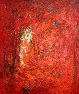 Untitled Painting 1986 70x60 Original Painting - Hubert  Scheibl