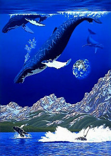 Dance of the Humpbacks PP Limited Edition Print - Schim  Schimmel